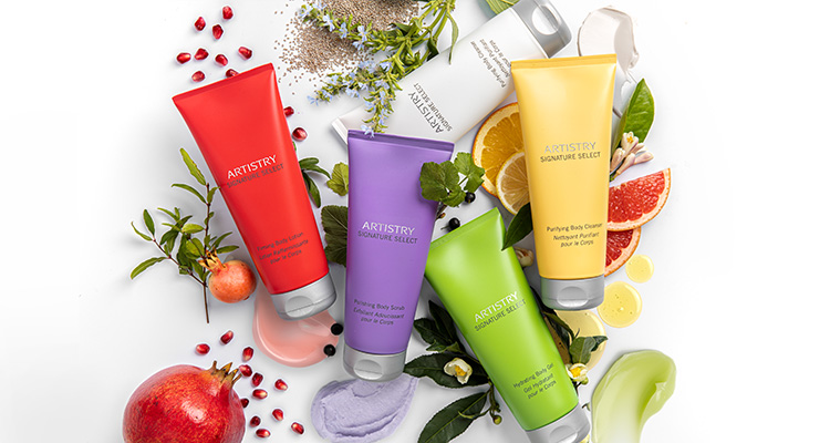 Stylised image of ARTISTRY SIGNATURE SELECT Body collection that contains Nutrilite ingredients 1